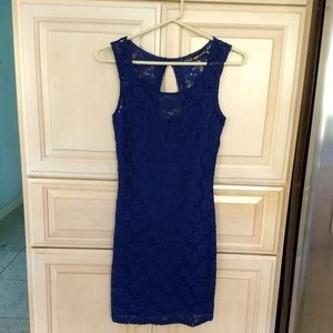 Wet Seal: Navy Blue Lace Dress